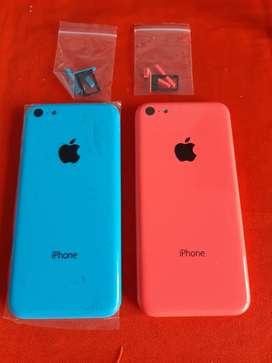 Carcasa IPHONE 5c azul celeste y rosada completa