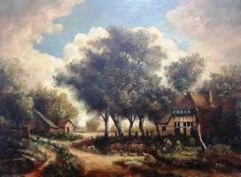 Antiguas pinturas al oleo sobre tabla. Españolas, firmadas