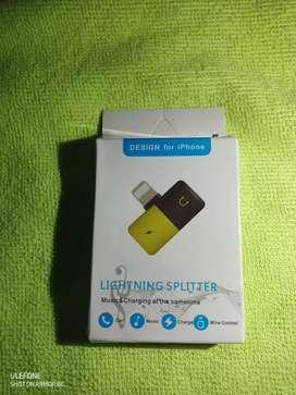 Adaptador iPhone Lightning Splitter Audio y Carga