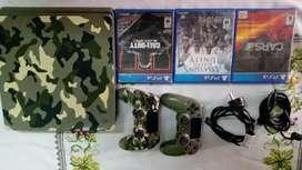 PlayStation 4 Slim Camuflada 1TB + 2 Joysticks + 3 Juegos
