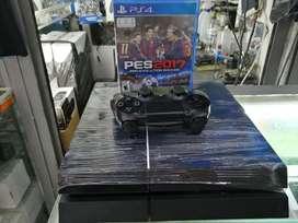 Consola de PS4 fat de 500gb con 1 control y 1 juego