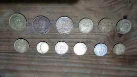 lote de 12 monedas colombianas antiguas