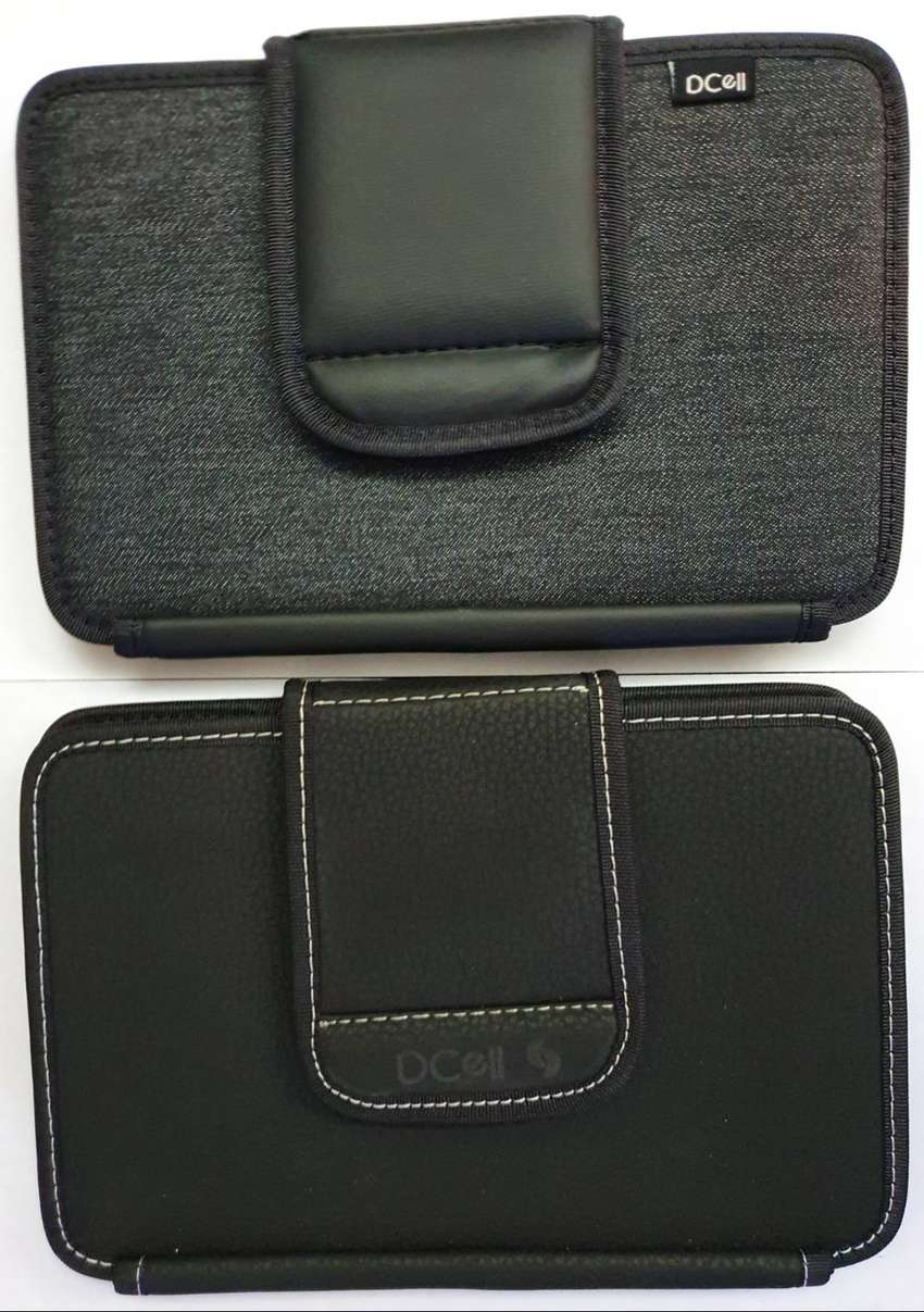 Funda para Tablet de 9 pulgadas (21 cm. de ancho) Cuerina o Tela Espumada Negro Gris Topo ASP