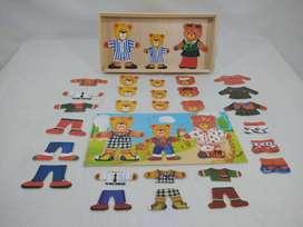 Juguete didáctico de madera - estimulación temprana