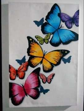 pintura de mariposas
