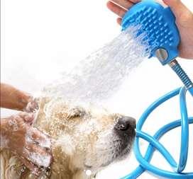 Ducha para mascota con ajuste en la mano