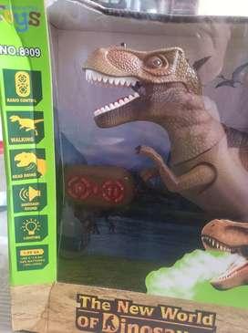 Juguete trex de dinosaurio de juego avanzado, realista para caminar