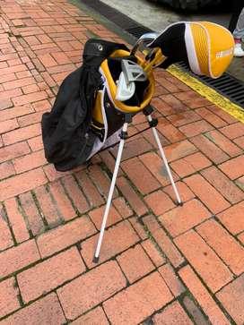Equipo golf para niño
