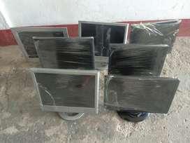 7 Monitores 15 Pulgadas Tipo a Hp Y Dell