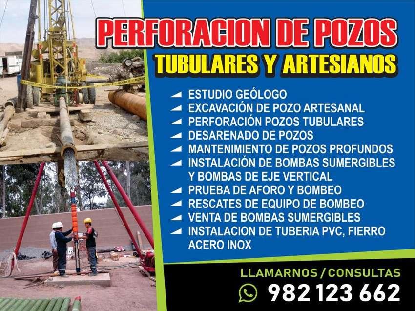 SERVICIOS DE PERFORACION DE POZOS TUBULARES Y ARTESANALES DE AGUA, DESARENADO DE POZOS, LIMPIEZA DE POZOS INSTALACIÓN 0