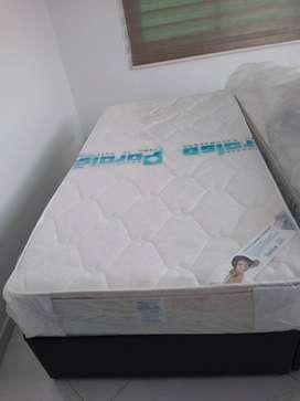 4 Base camas tipo duplex nuevas marca paraíso
