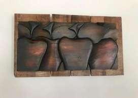 Venta cuadro manzanas en cedro