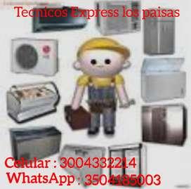 Instalaciones reparaciones mantenimiento preventivo a nevecones, neveras, lavadoras, Aires acondicionados