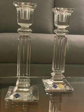 Candelabros en cristal
