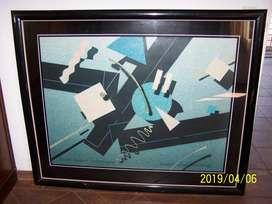 CUADRO decorativo abstracto de gran tamaño
