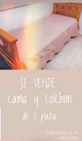 Cama Y Colchon 1 Plaza