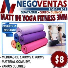 MATT DE YOGA FITNESS 3MM EN DESCUENTO EXCLUSIVO DE NEGOVENTAS