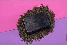 Jabón de Carbón activado y té verde 100% natural