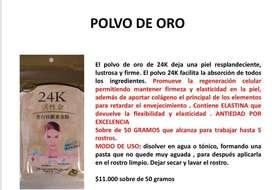 POLVO DE ORO, MASCARILLA ROSTRO