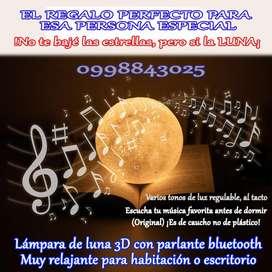 Lámpara de luna 3D con parlante bluetooth