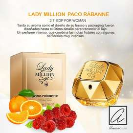 PERFUME LADY MILLON PACO RABANNE 80 ML. ORIGINAL DAMAS