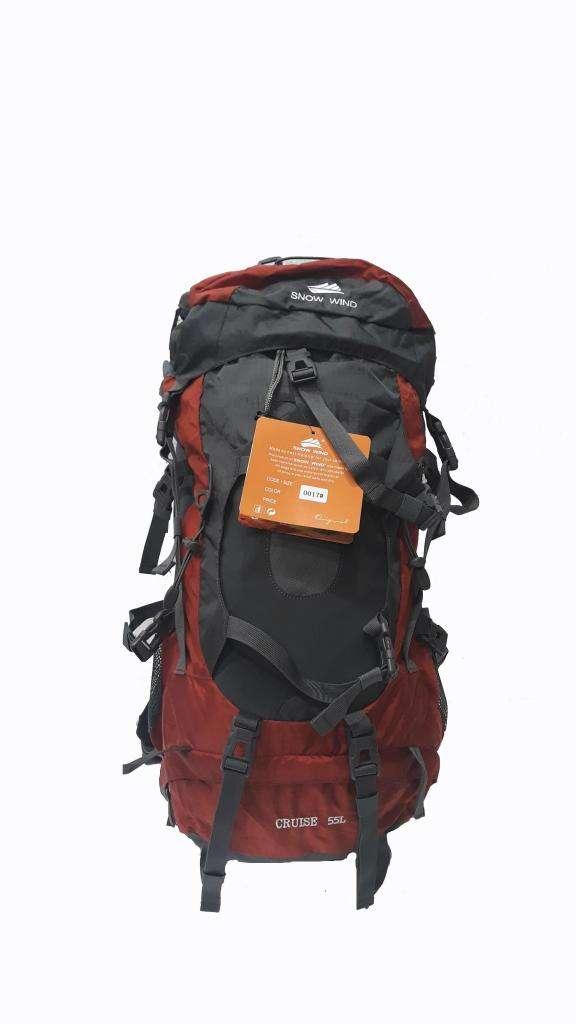 Mochila Camping Trekking 55 Lts Importada 0