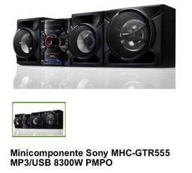 Minicomponente Sony MHC-GTR555 MP3/USB 8300W