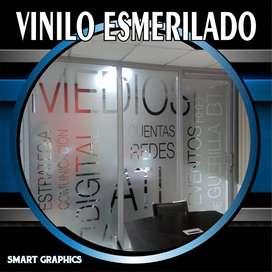 VINILO ESMERILADO FROSTED VIDRIERA MICROPERFORADOS  PUBLICIDAD PALMIRA CALI