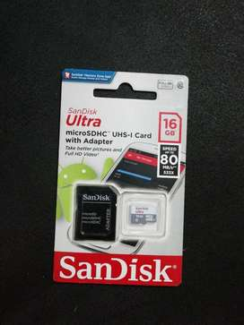 Micro Sd con Adaptador Sd 16gb