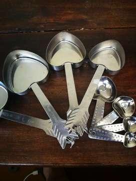 Set medidor de tazas y cucharita, acero inolvidable