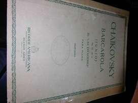 PARTITURA: CHAIKOVSKY - BARCAROLA p/piano