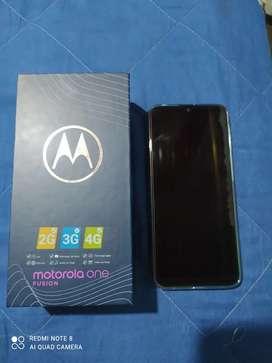 En venta hermoso Motorola one fusion 128 de interna cambio por xioami redmi con su caja