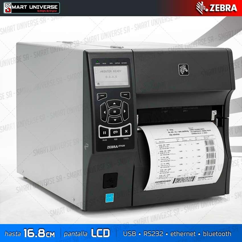 Impresora Zebra Zt420 de Etiqueta USB Serial Red Bluetooth 0