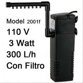 Filtro Interno Flauta Con Motor 300 Litros/h Acuario Pecera