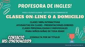 PROFESORA DE INGLES PARA NIÑOS Y NIÑAS TODAS LAS EDADES!