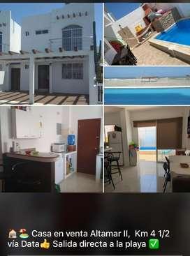 Casa 2 Pisos Playas Urb Altamar 2