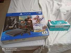 PS4 PLAYSTATION 4 PLAY STATION 4 SLIM 1TB NUEVO DE PAQUETE CON 3 JUEGOS NUE