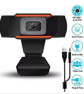 Cámara web 720 HD USB para PC con micrófono