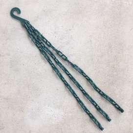 Gancho cadena Matri plástico para macetas colgantes de tres agarres