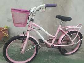 Permuto bici rodado 16 por una de mujer rodado 26 y diferencia en plata