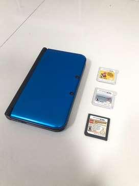 Nintendo 3Ds XL 3 juegos usado