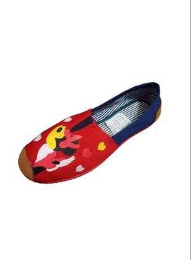 zapatillas suela roja con minie roja con envio gratuito