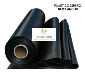 PLASTICO NEGRO 10 MT ANCHO X 10 MT LARGO CALIBRE 7