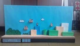 Diorama Super Mario Bros 3 Y Cuadro De Megaman (nes)