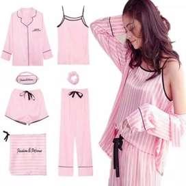 Pijama modelo Victoria's Secret Pink 7 piezas ropa de dormir verano, invierno