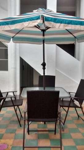 JUEGO COMPLETO DE JARDIN TERRAZA muebles
