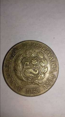Moneda 1 sol peruano. 1968