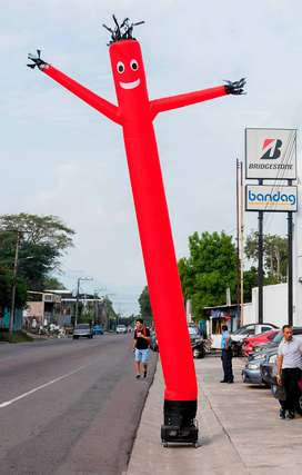 Bailarin Inflable, Inflable , Publicidad