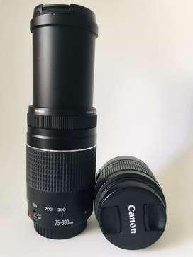 Lente 75 300 y lente 18 55 mm GANGA!