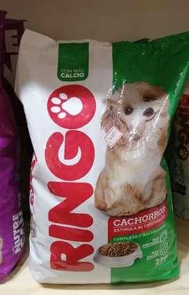Vendo comida ringo de 2 kg para cachorro